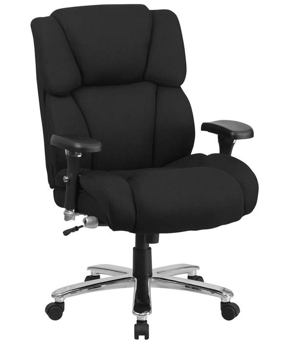 "*New* BTOD Heavy Duty intensive Use Fabric Desk Chair Rated For 400 lbs. 24"" Wide Seat"