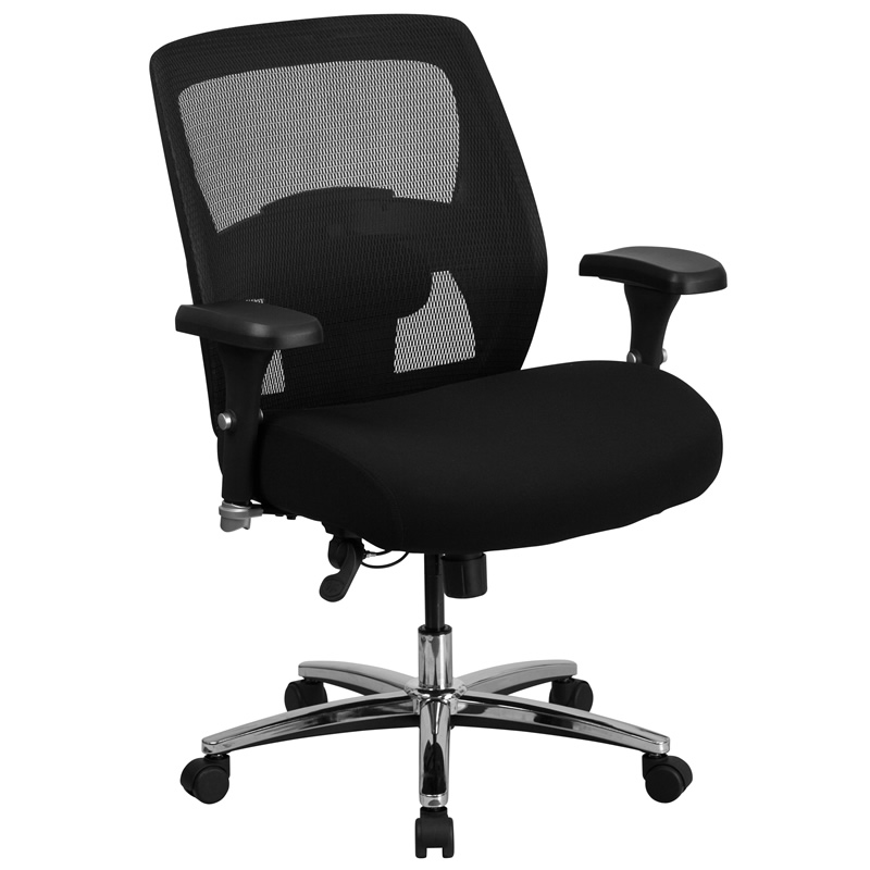 "*New* BTOD Intensive Use Mesh Back Desk Chair Rated For 500 lbs. - 25.5"" Wide Seat"
