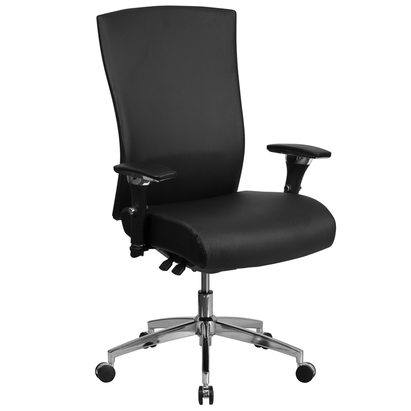 BTOD 24/7 Multi Shift High Back Leather Office Chair Rated For 300 lbs.