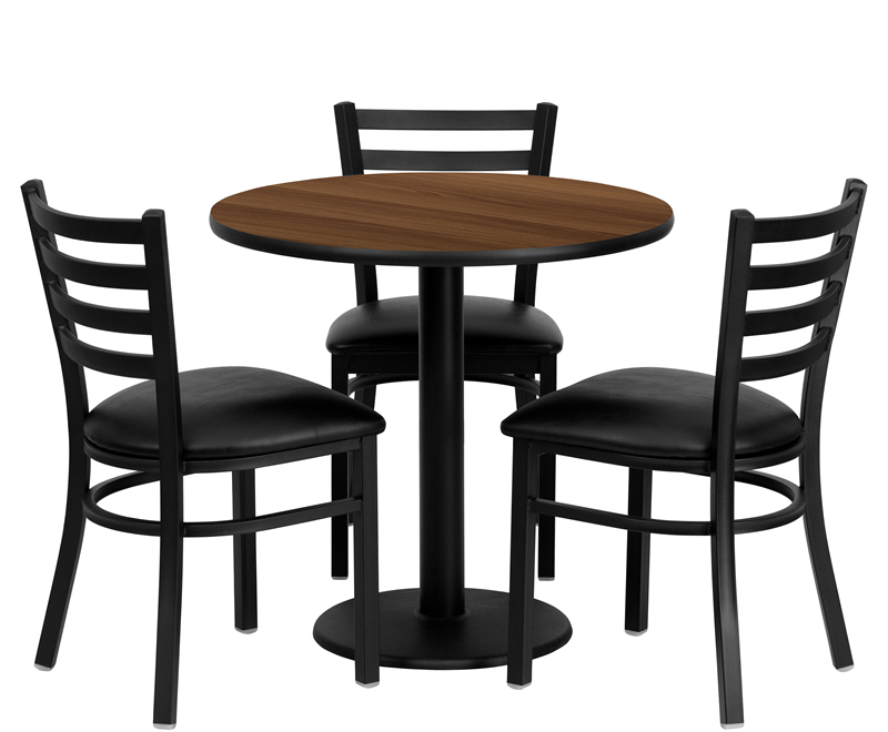 Btod 30 Round Top Breakroom Table W 4 Chairs