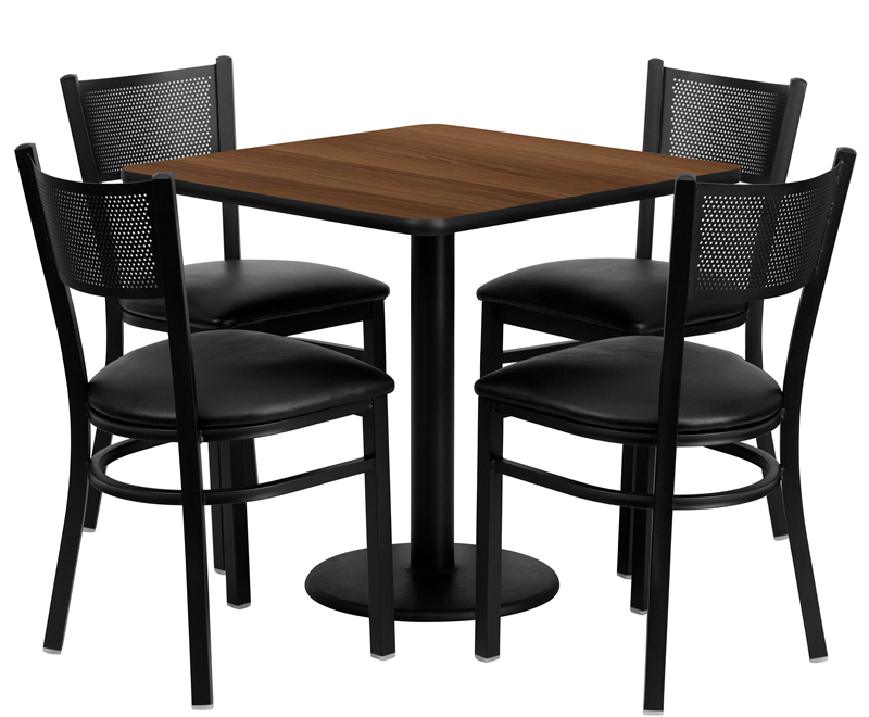 btod 30 square top dining height breakroom table w chairs. Black Bedroom Furniture Sets. Home Design Ideas