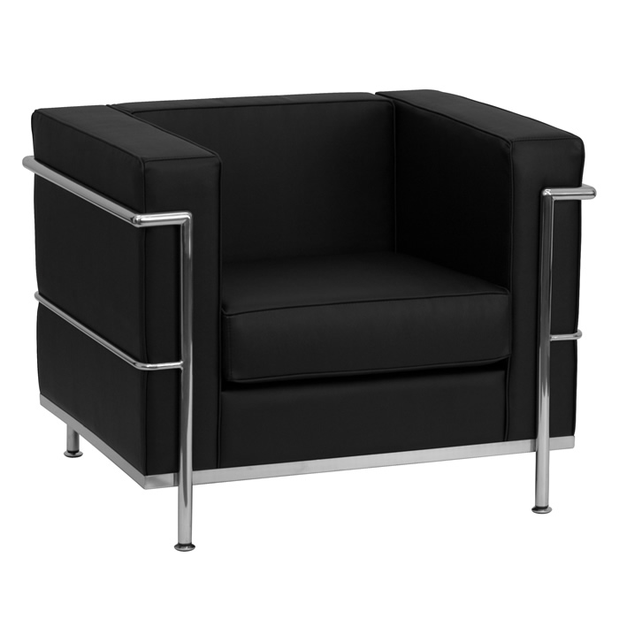 BTOD Regal Series Contemporary Leather Lounge Chair Available In Black or White