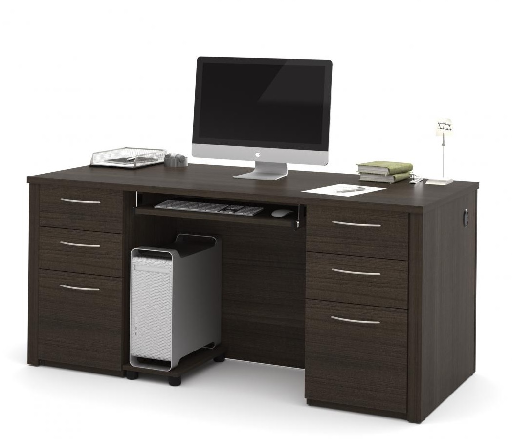 Bestar Emby Executive Office Desk 2 Color Options