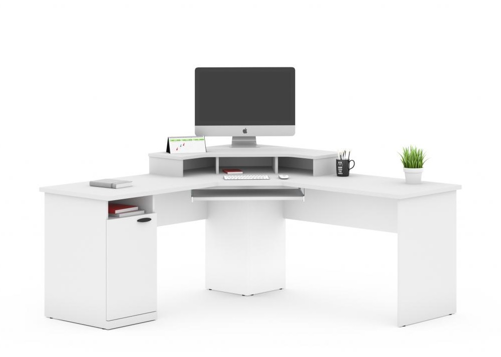 Bestar Hampton Corner Office Desk 2 Color Options