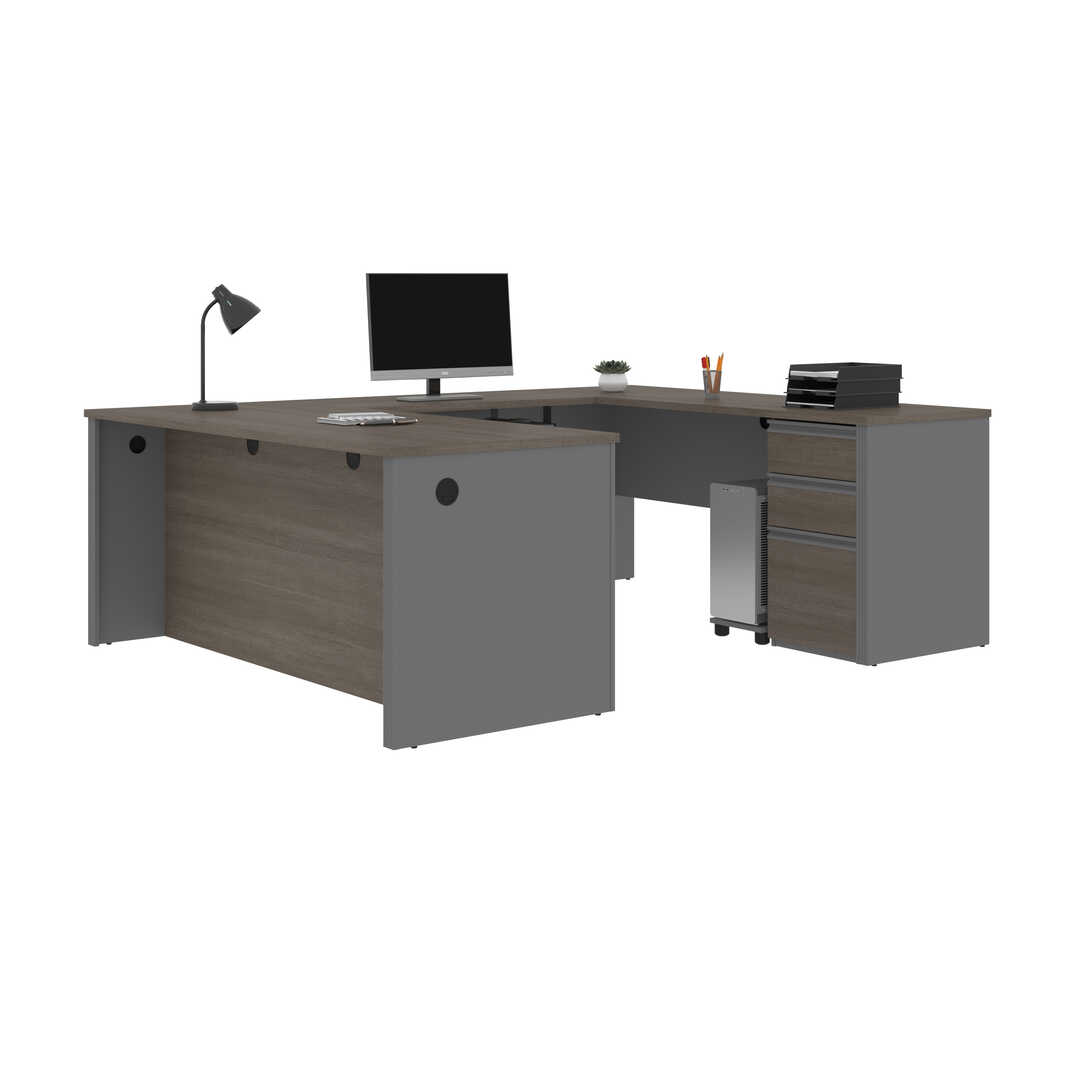 Bestar Prestige+ U-Shape Office Desk 3 Finish Options