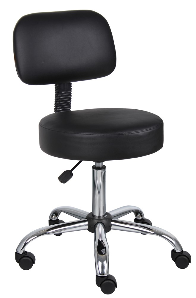 *New* Boss Doctor's Stool with Backrest and Pneumatic Height Adjustment From 21-27""