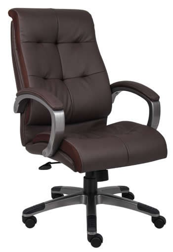Boss LeatherPlus Conference Chair Padded Arm Rests