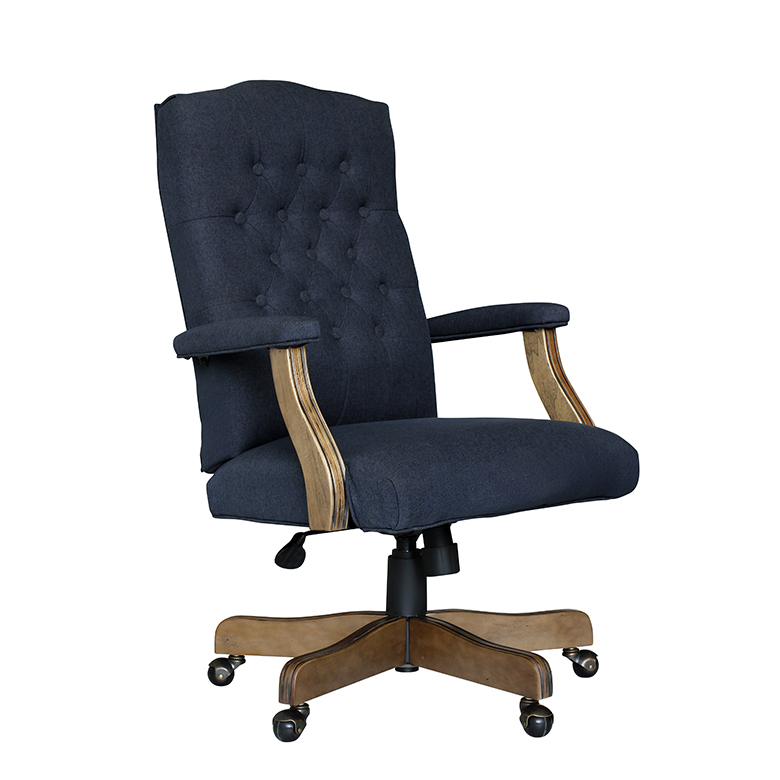 boss b905 traditional leather office chair tufted back