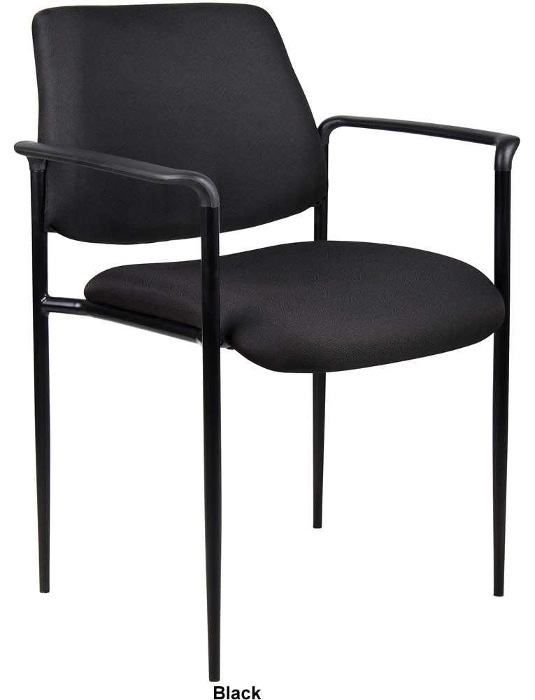 *New* Boss Contemporary Style Stack Chairs w/ Molded Arm Caps