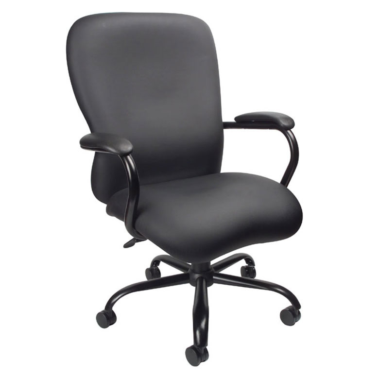 "Boss Big and Tall Fabric Office Chair Extra Wide 24"" Seat Rated For 350 lbs."