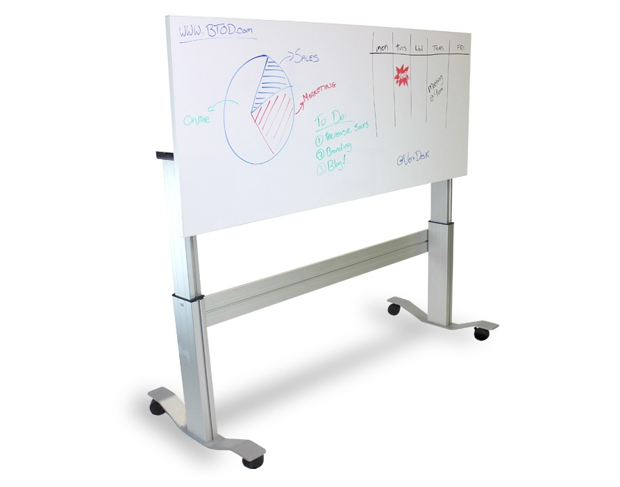 MarkIt Up™: The Worlds First Adjustable Standing Desk with Flip Up Whiteboard