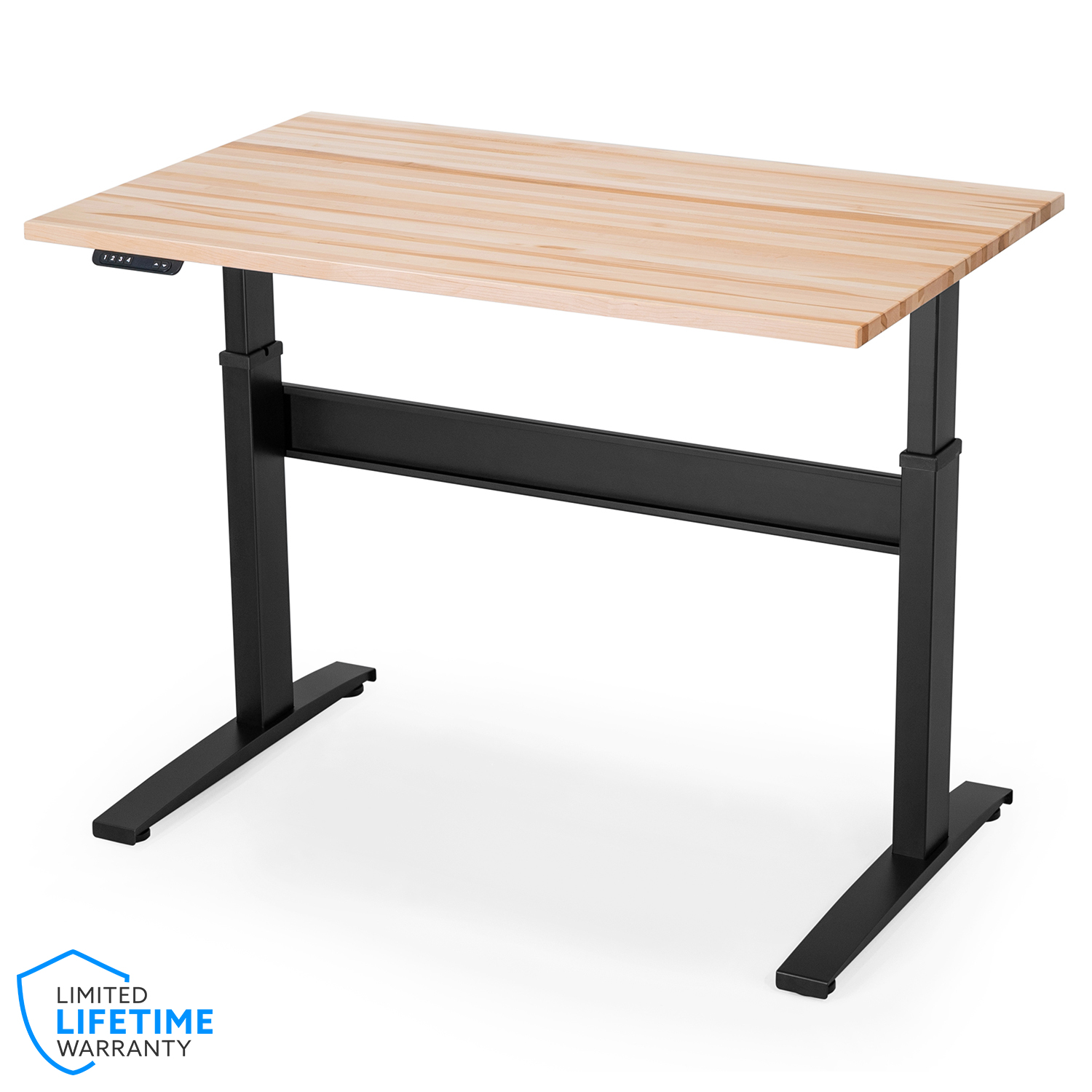 VertDesk v3 Electric Sit Stand Desk - Butcher Block Top w/ Voice Control