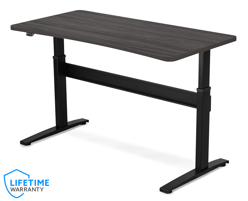 VertDesk v3 Bow Front Standing Desk - Wood Essence Laminate