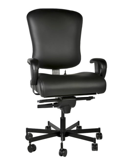 *New* Concept Seating 3150 and 3152 Task 24/7 Chair 550 lbs Rating *Ships in 1 Week - Black Fabric, Vinyl or Leather*