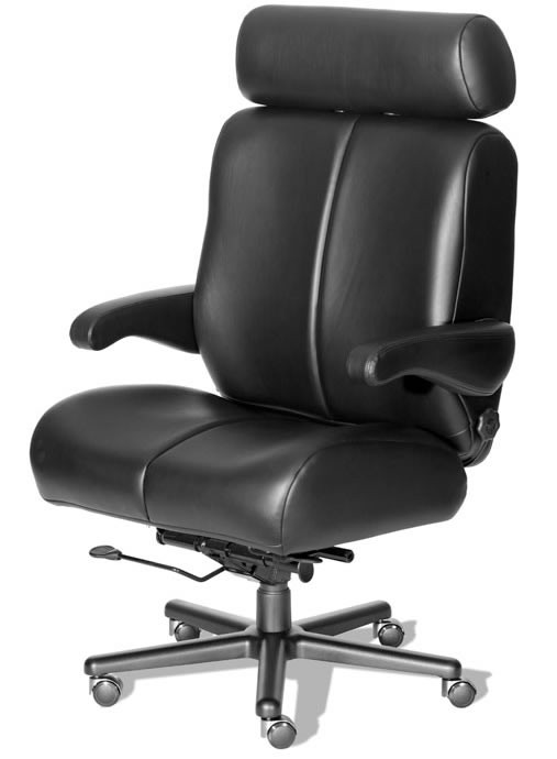"ERA Big Sur Extra Large Big Leather Office Chair 500 lbs Rating 26"" Wide Seat!"