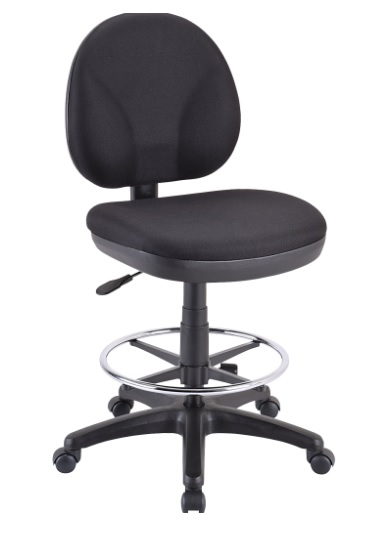 "Eurotech OSS400 Drafting Chair w/ Foot Ring - 25.5 - 30.5""H"