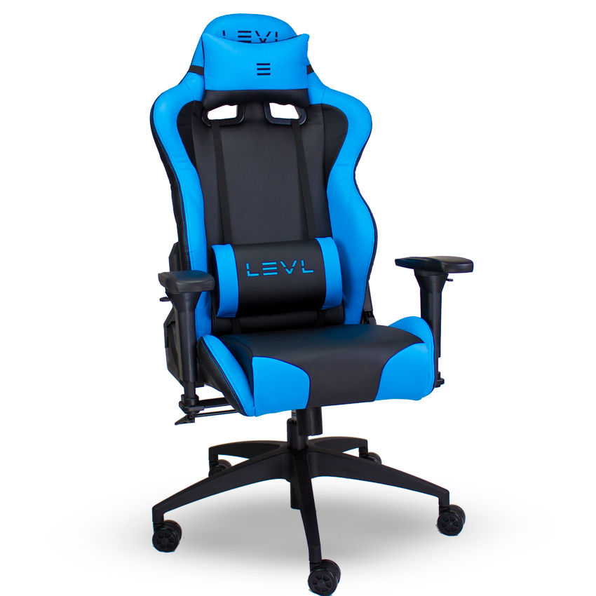 LEVL Gaming Alpha Series M Gaming Chair in Black/Blue  sc 1 st  Btod.com & LEVL Alpha M Best PC Gaming Chair Blue/Black