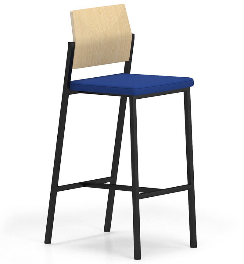 Lesro Avon Series Café Stool Upholstered Seat / Laminate Back