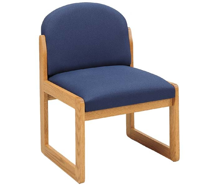 Lesro Classic Round Back Series Armless Guest Chair C1302G3