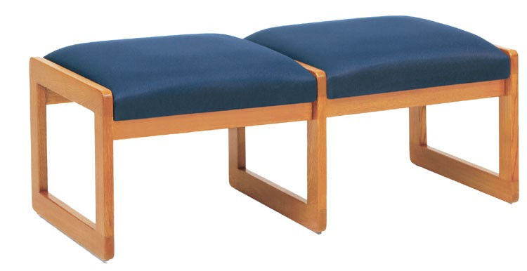 Lesro Classic Series 2 Seat Bench w/ Sled Base