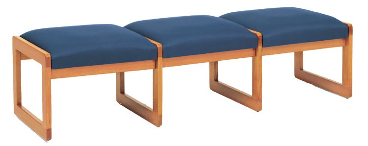 Lesro Classic Series 3 Seat Bench w/ Sled Base