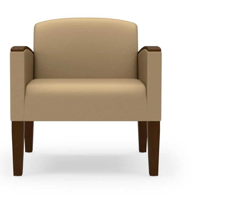 Lesro Belmont Series 500 lb Guest Chair w Arms G1651K4