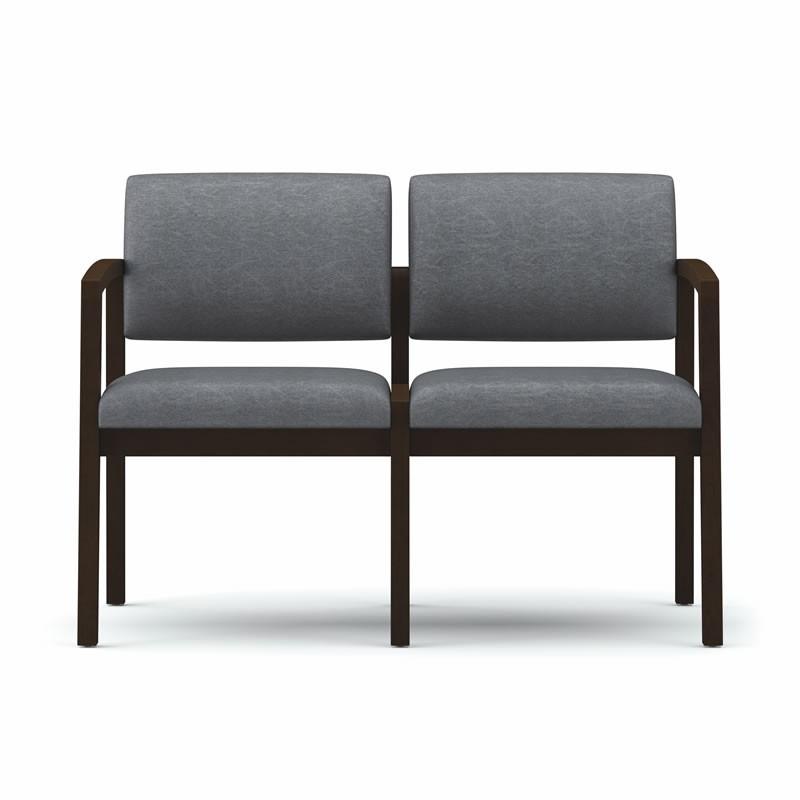 Lesro Lenox Series 2 Seat Guest Chair No Center Arms L2101G5