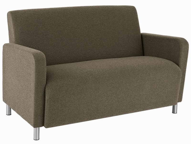 Lesro Ravenna Series Loveseat With Optional Steel or Wood Legs