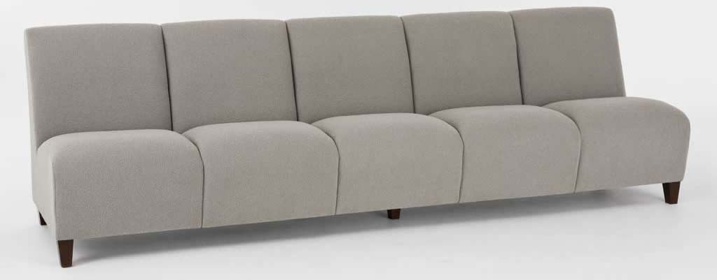 Lesro Siena Series 5 Seat Armless Reception Sofa