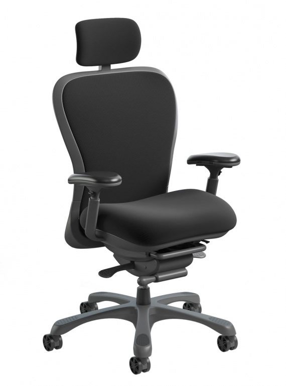 Nightingale CXO Mid Back Mesh Office Chair With Headrest 350 lb. Weight Rating