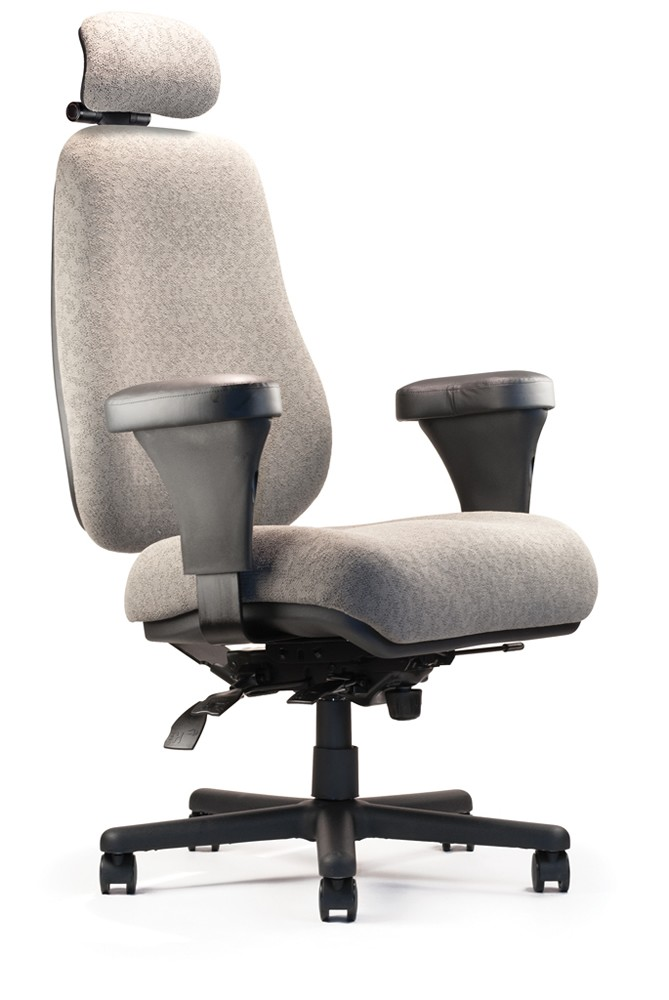 "Neutral Posture Intensive Use Ergonomic Chair - 27"" Wide Seat 500 lb. Capacity!"