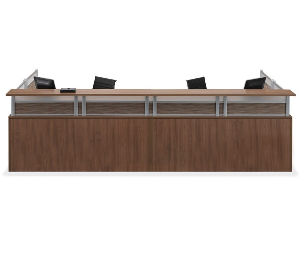 Office Source Borders II Series Two Person Reception Desk 6 Laminate Finishes