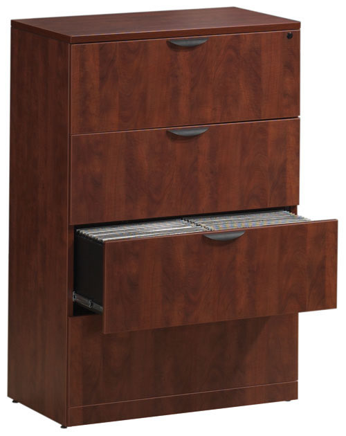 Os Laminate Series Four Drawer Lateral File