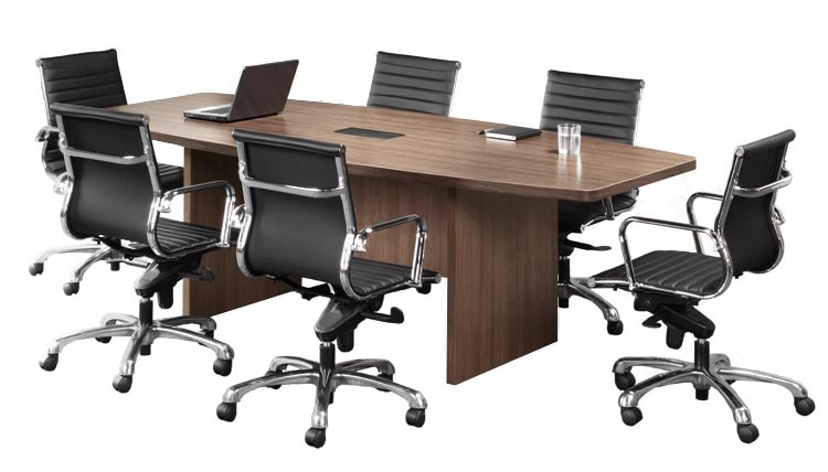 OS Laminate Series Boat Shaped Conference Table w/ Slab Base