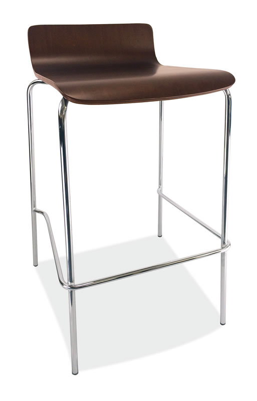 *New* Bleecker Series Café Height Low Back Wood Stool