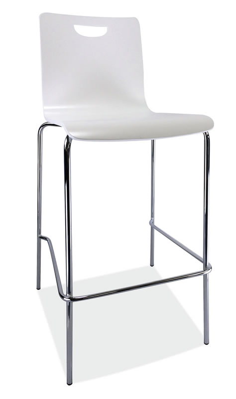 *New* Bleecker Series Café Height High Back Wood Stool