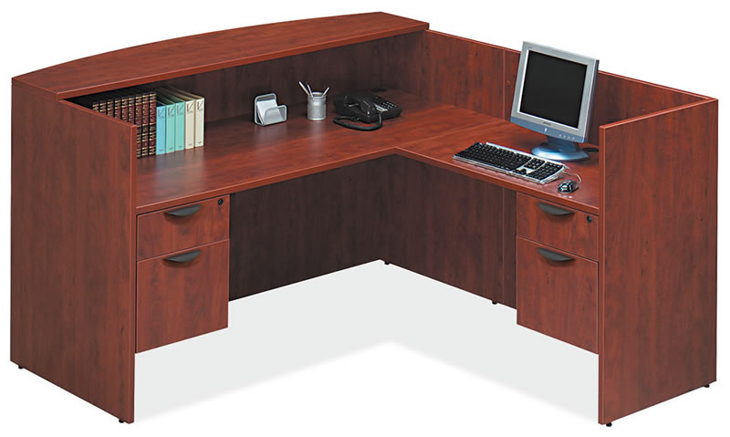 OS Laminate Series L Shaped Reception Desk