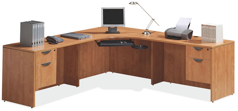 sc 1 st  Beyond The Office Door & OS Laminate Series L Desk with 2 Hanging Box/Files Aboutintivar.Com