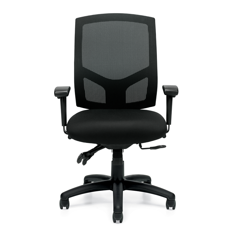Offices To Go Deluxe Ergonomic Office Chair w/ Seat Depth Adjustment