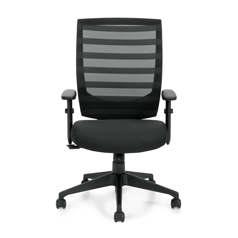 Offices To Go High Back Mesh Office Chair w / Height Adjustable Arms