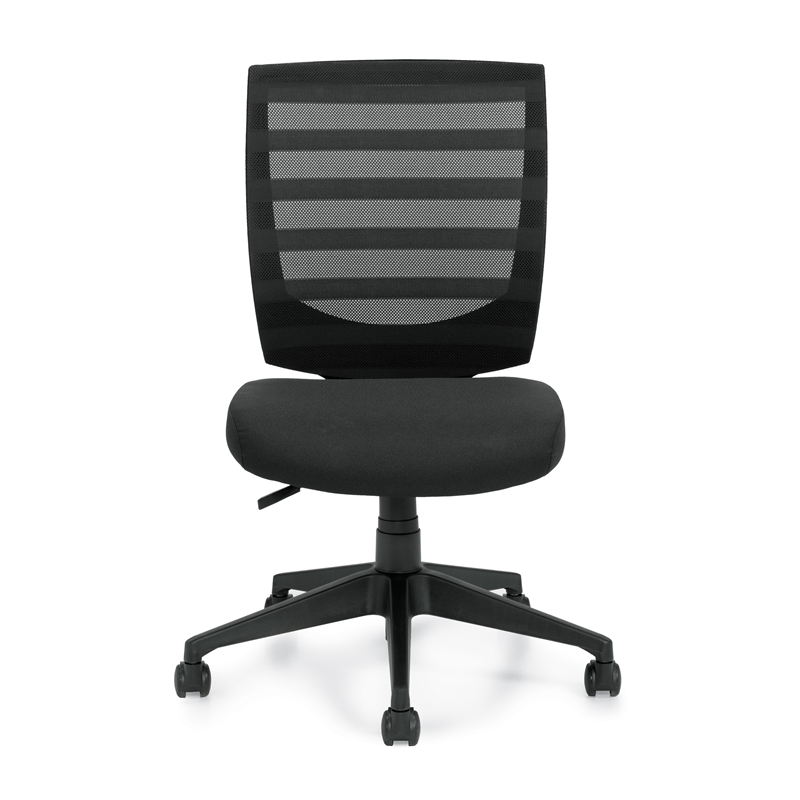 Offices To Go Armless Mesh Back Office Chair w / Single Position Lock