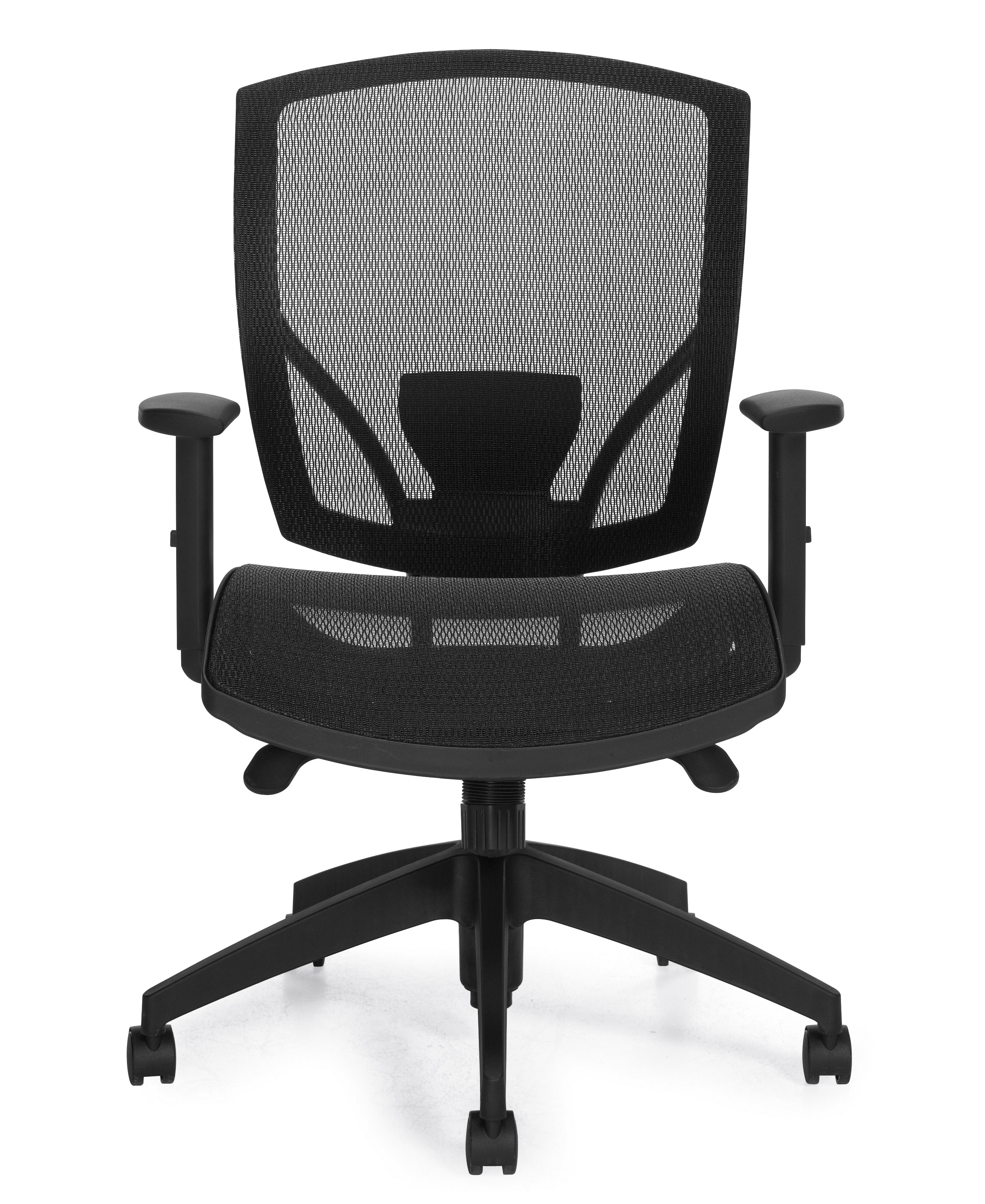 Offices To Go Mesh Back Ergonomic Chair w/ Seat Depth Adjustment