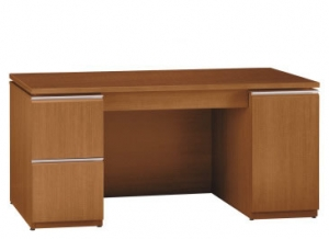 "Bush Milano2 Series 66"" Double Pedestal Kneespace Credenza w/  CPU Compartment"