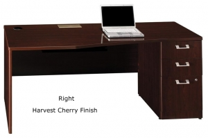 "Bush Quantum Collection 72"" Left or Right Hand Desk With Pedestal File"