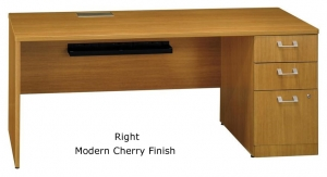 "Bush Quantum Collection 72"" Left or Right Hand Credenza With Pedestal File"