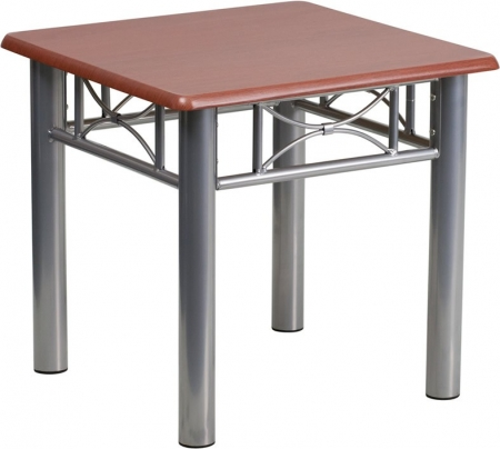 BTOD Laminate Reception End Table Available In Mahogany or Maple