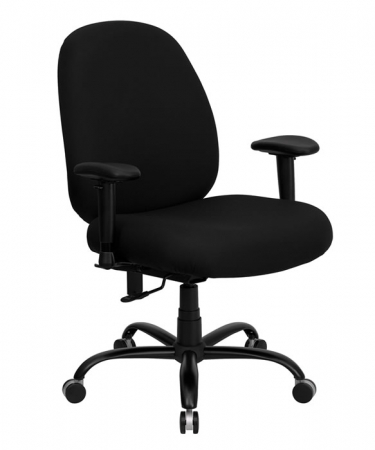 "BTOD Big And Tall Fabric Office Chair 22.5"" Wide Seat Rated For 400 lbs."