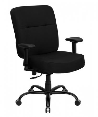 "BTOD Big And Tall Fabric Office Chair 22"" Seat Width Rated For 400 lbs."