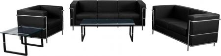 BTOD Regal Series Contemporary Leather Reception Set 2 Color Options