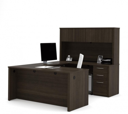 Bestar Embassy U Shaped Office Desk with Hutch